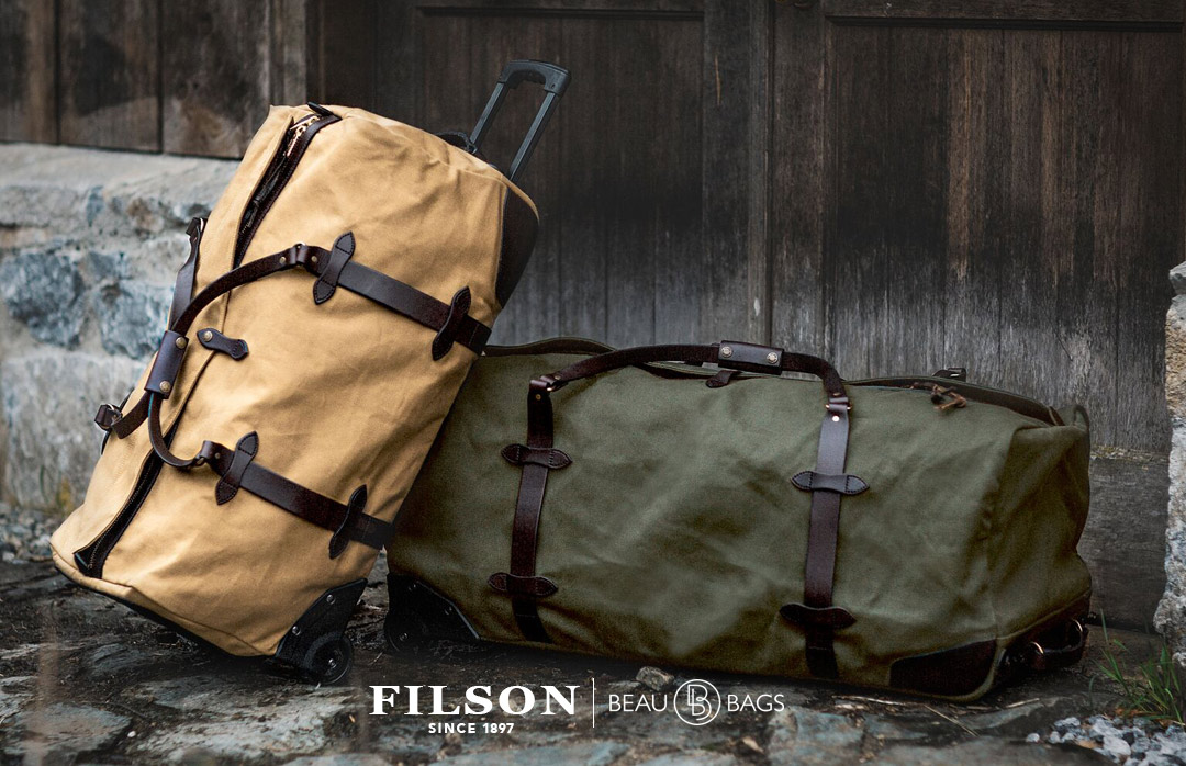 Filson Rolling Duffle-Large Tan, perfect duffle for traveling in style