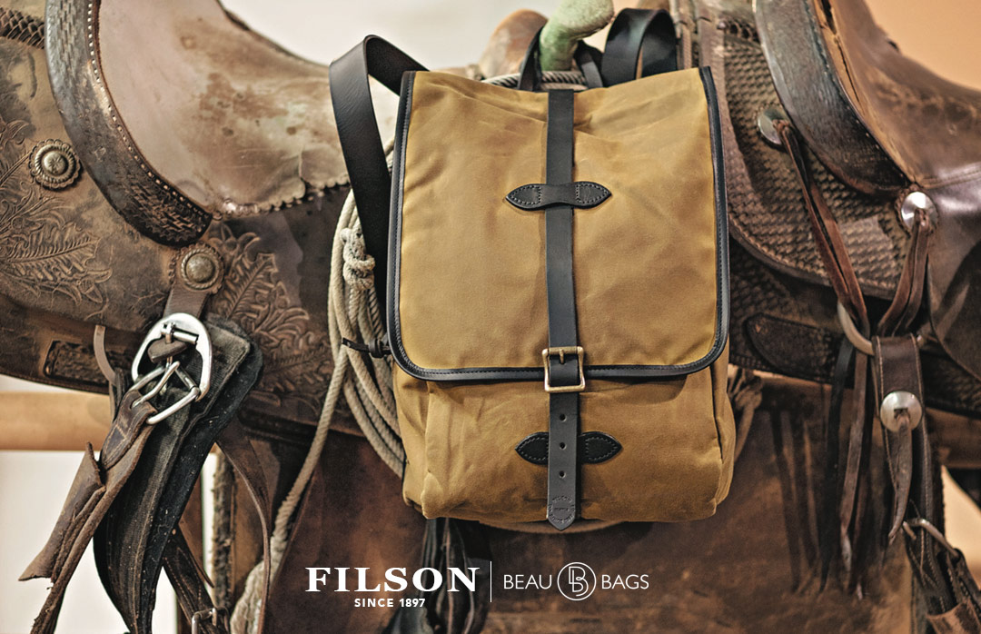 Filson Tin Cloth Backpack Tan, the ultimate rucksack for every trip you make