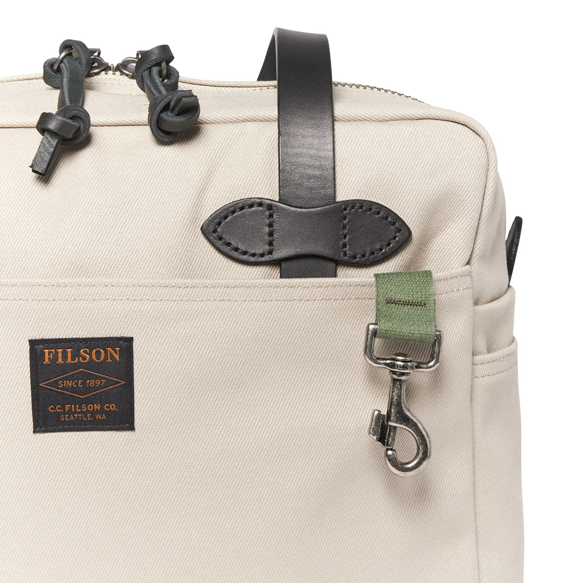 Filson Rugged Twill Tote Bag With Zipper 11070261-Twine, Tote Bag made for men and women who love quality and style