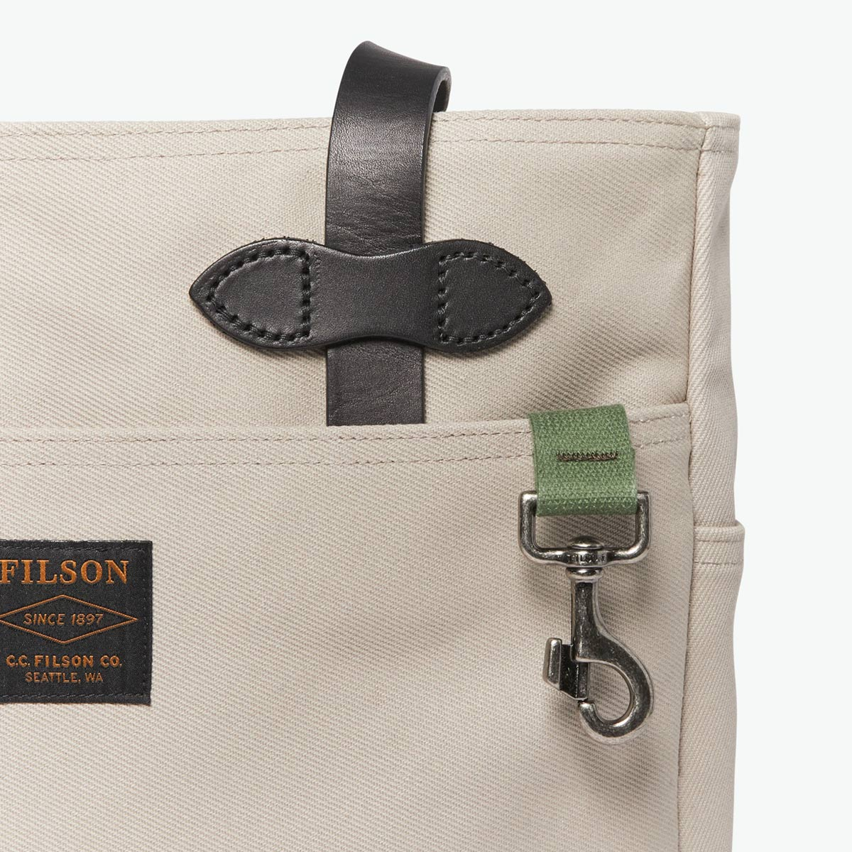 Filson Rugged Twill Tote Bag Twine, Tote made for men and women who love quality and style