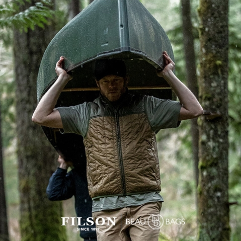 Filson Ultra Light Vest Field Olive, perfect as an outer layer or underneath a heavy jacket for warmth in extreme cold