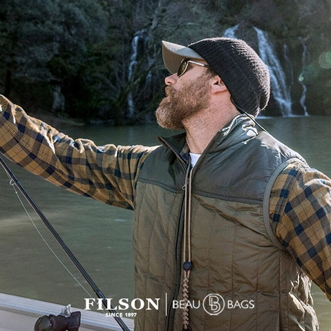 Filson Ultra Light Vest Field Olive, with Cordura® Ripstop nylon and 60gm PrimaLoft® Gold insulation