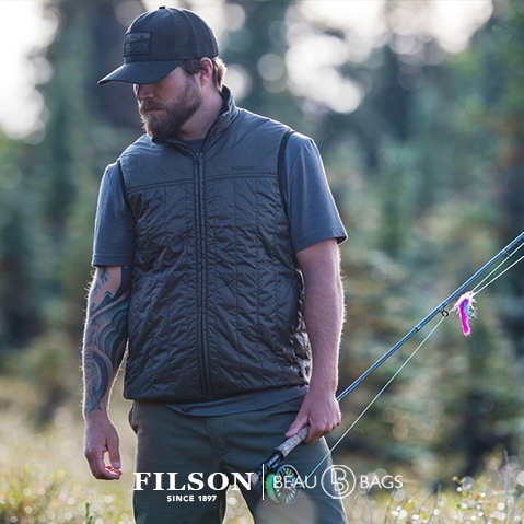 Filson Ultra Light Vest Raven, with Cordura® Ripstop nylon and 60gm PrimaLoft® Gold insulation