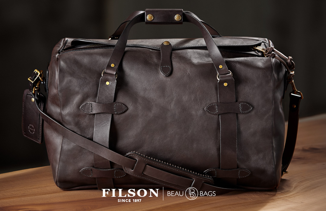 Filson Weatherproof Duffle-Medium Leather perfect duffle for a long weekend