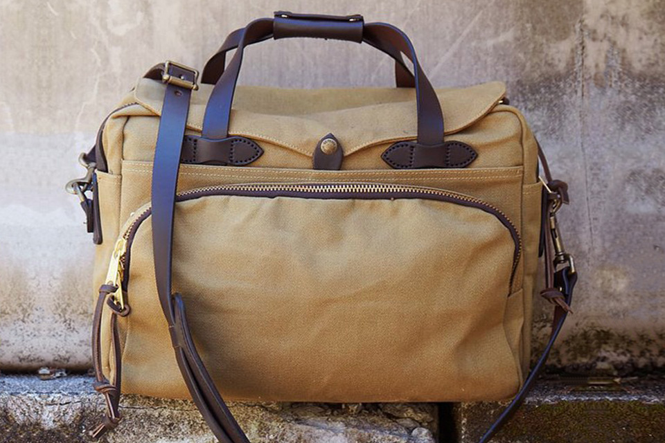 Filson Padded Computer Bag 70258 Tan