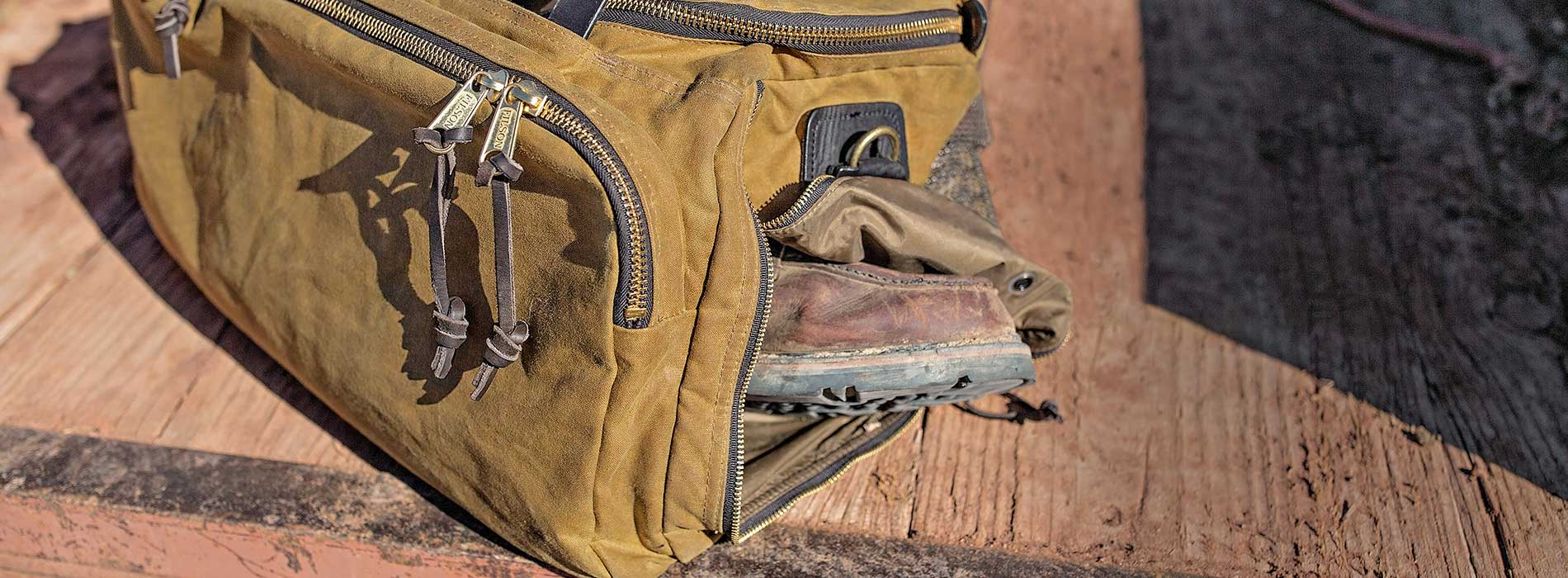 Filson Excursion Bag in the field