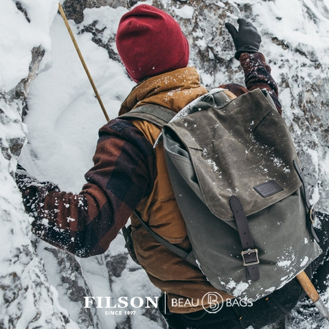 Filson Ranger Backpack Otter Green, a rugged, vintage inspired, backpack