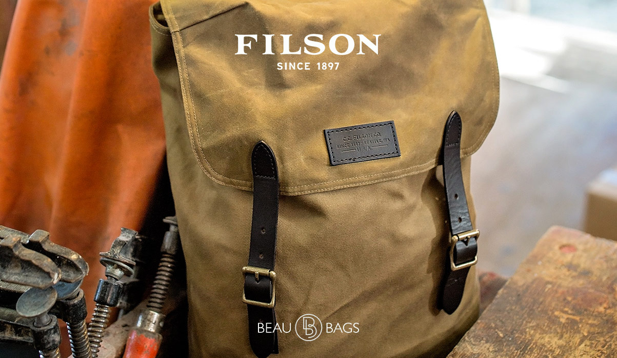 Filson Ranger Backpack 11070381 Tan, a rugged, vintage inspired, backpack