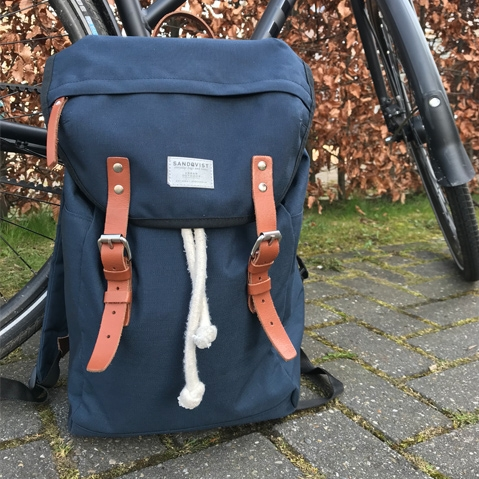 Sandqvist Hans Backpack Blue, a 15 inch every-day rucksack for work and outdoor