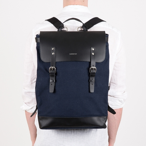 Sandqvist Hege Backpack Blue, a perfect every-day bag for work