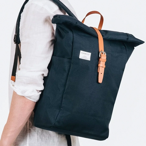 Sandqvist Silas Backpack Blue, a perfect every-day bag for work and outdoor