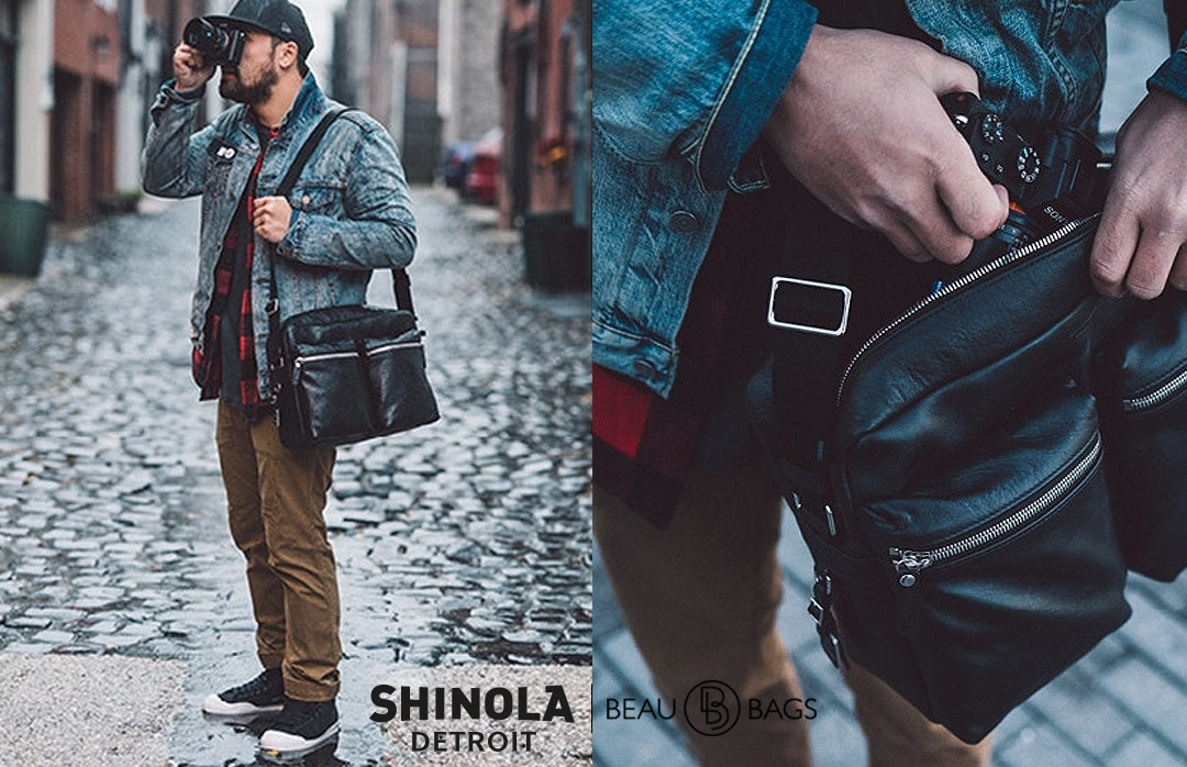 Shinola Zip Top Messenger Black, great messenger crafted to carry everything