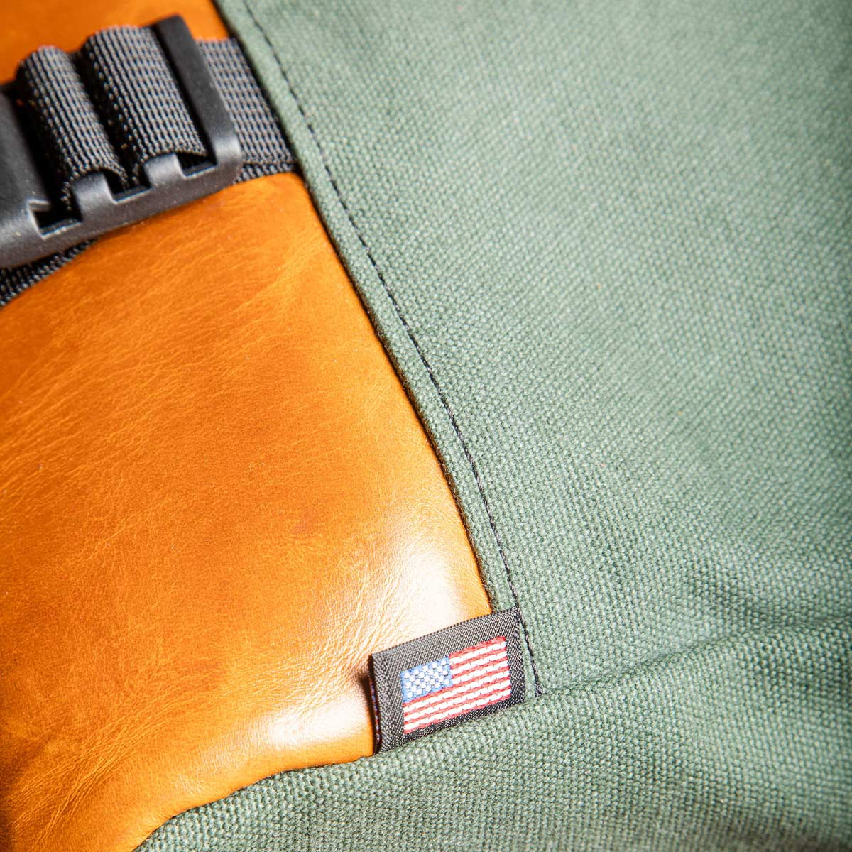 Topo Designs Commuter Briefcase Heritage Olive Canvas/Brown Leather, shoulder bag and backpack