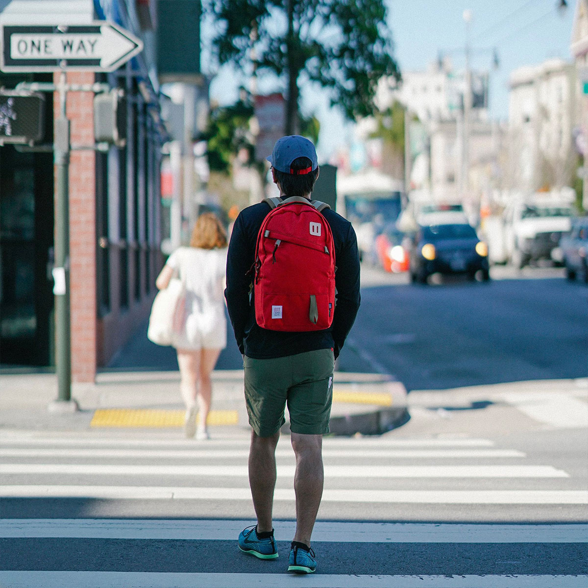 Topo Designs Daypack backpack Red, classic designed backpack in 1000D Cordura