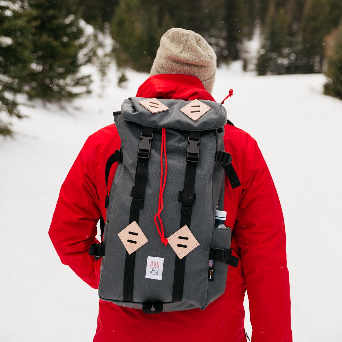Topo Designs Klettersack Charcoal, perfect backpack for men and women