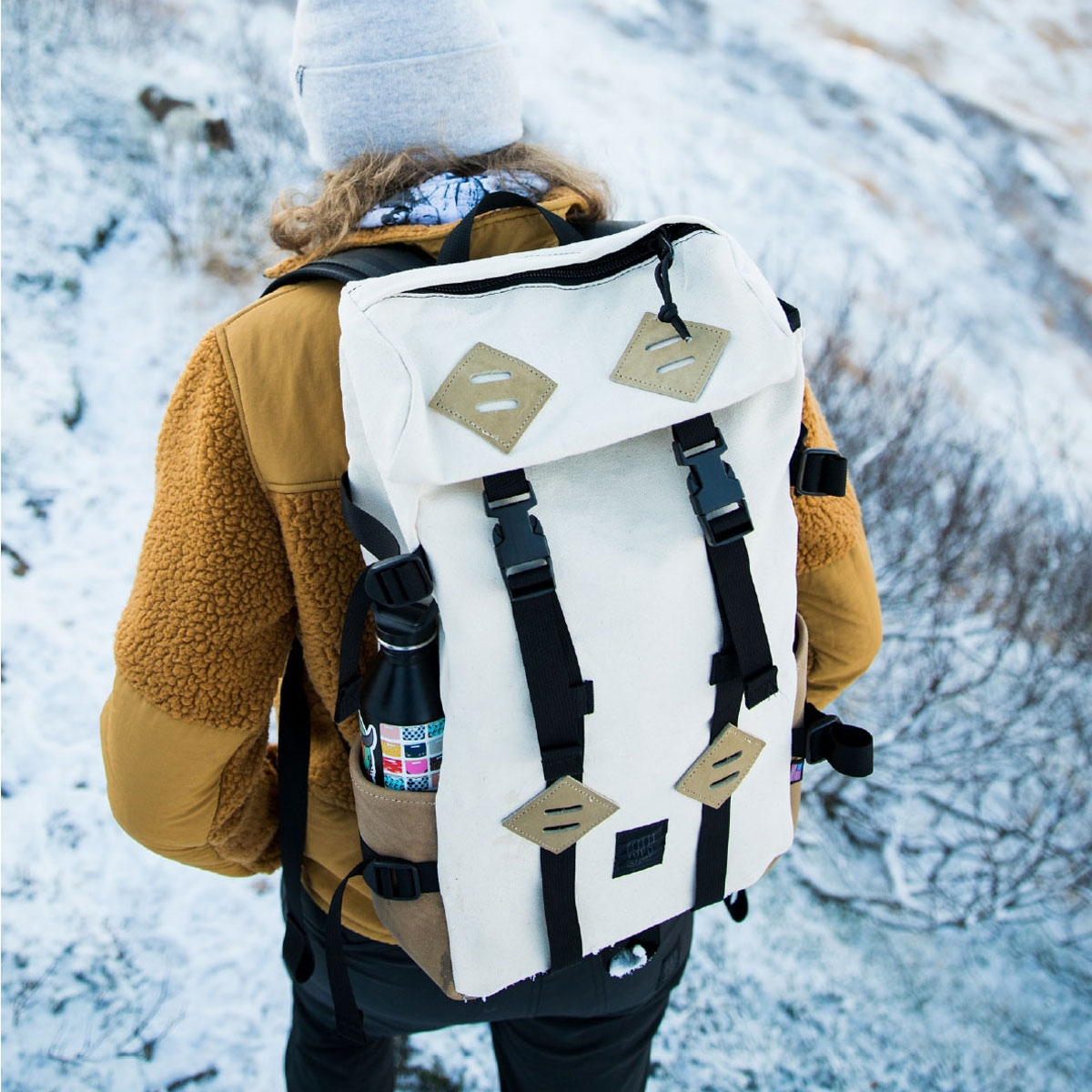 Topo Designs KlettersackNatural/Khaki Leather