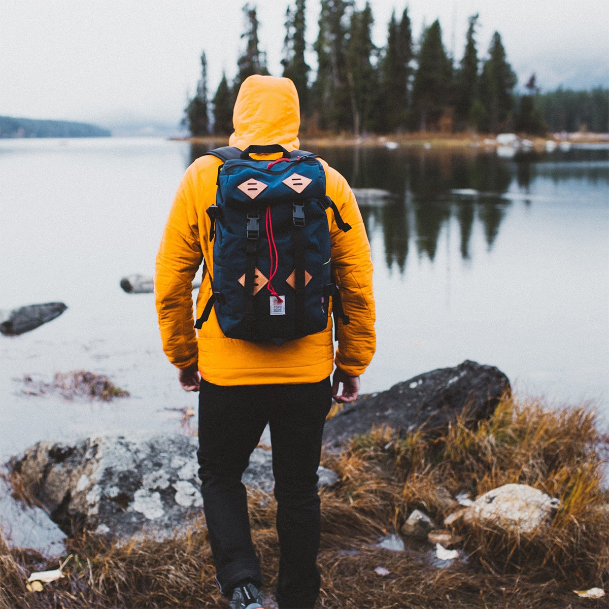 Topo Designs Klettersack Navy Lifestyle, classic backpack for men and women