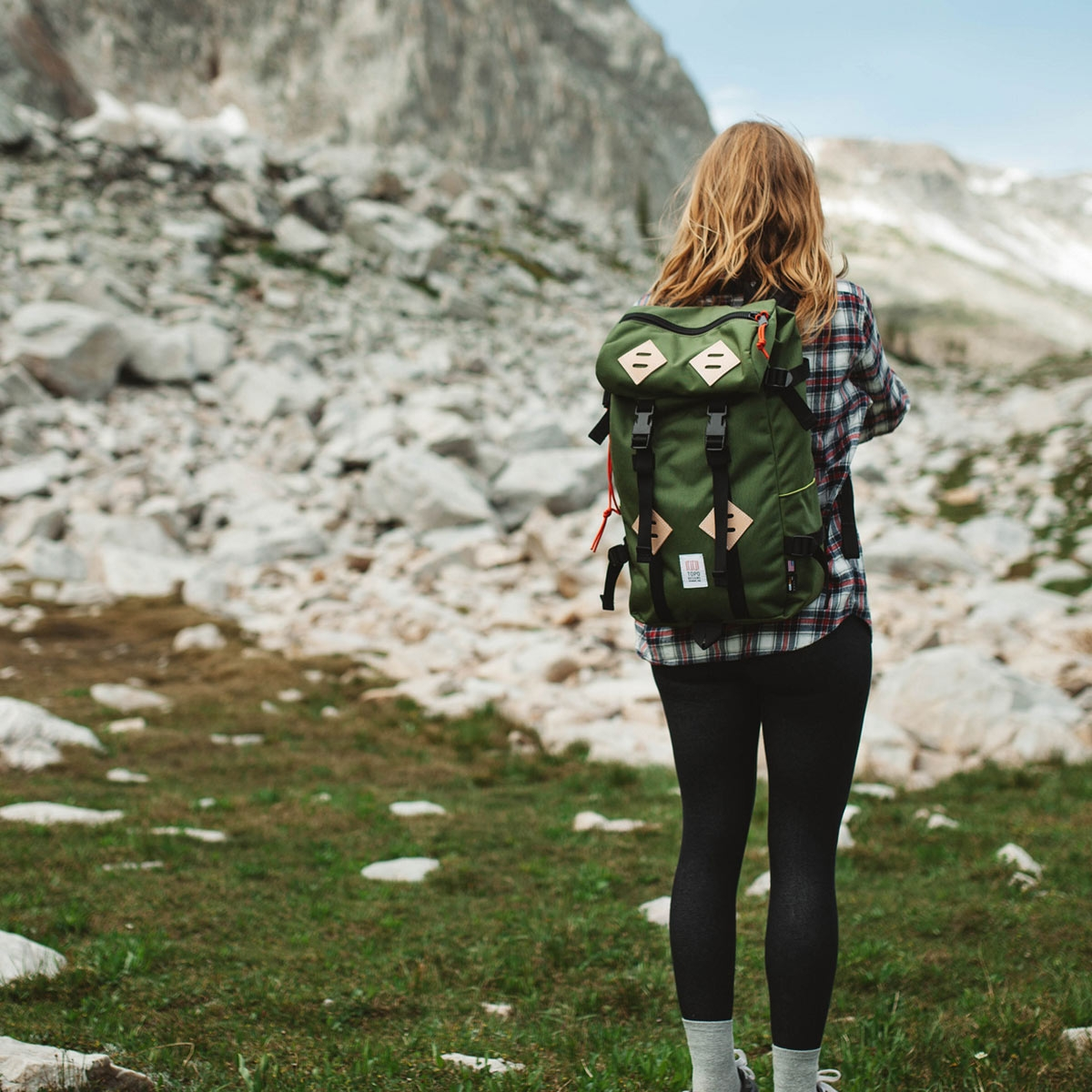 Topo Designs Klettersack Olive Lifestyle, perfect backpack for men and women