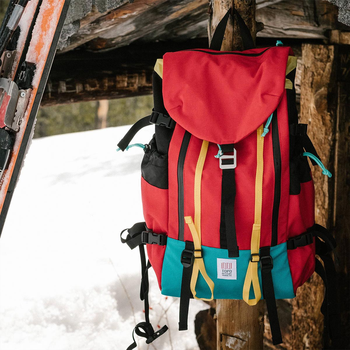 Topo Designs Mountain Pack Red, ideal backpack durable enough for the outdoors