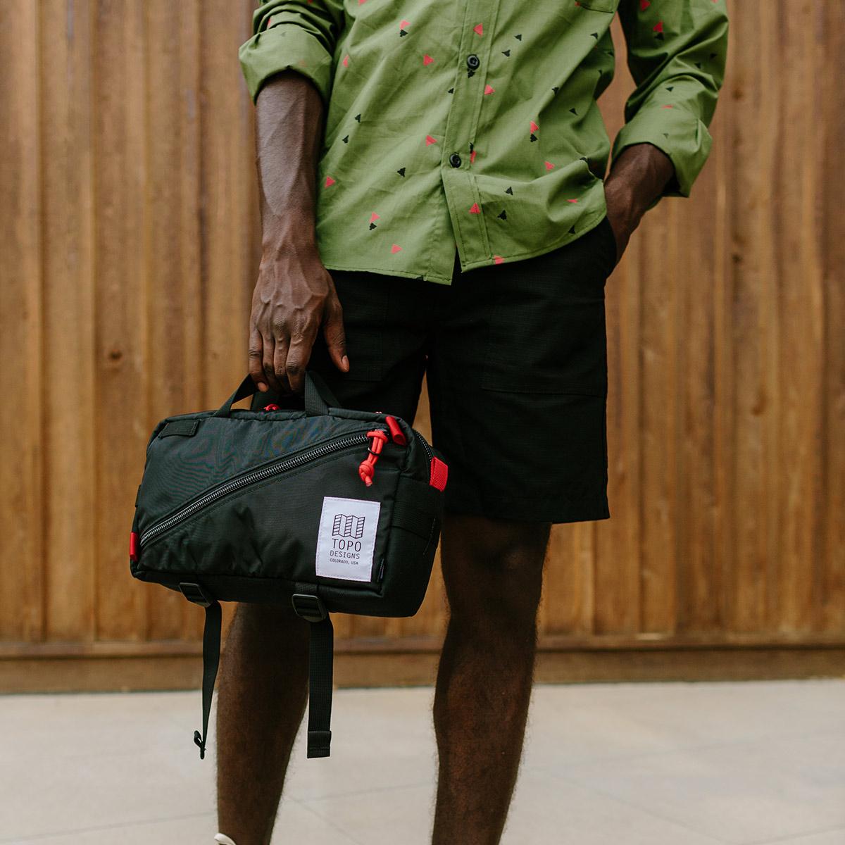Topo Designs Quick Pack Black, Introducing Topo Designs secure travel bag