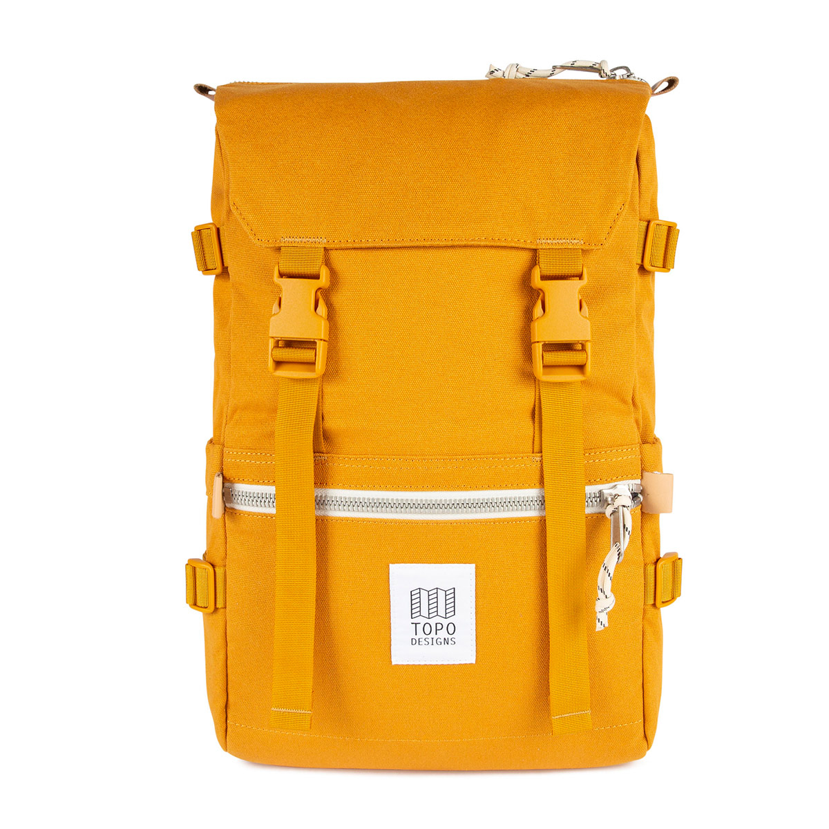 Topo Designs Rover Pack Canvas Yellow, Mountain-inspired durability meets city-ready styling in the Rover Pack Canvas.