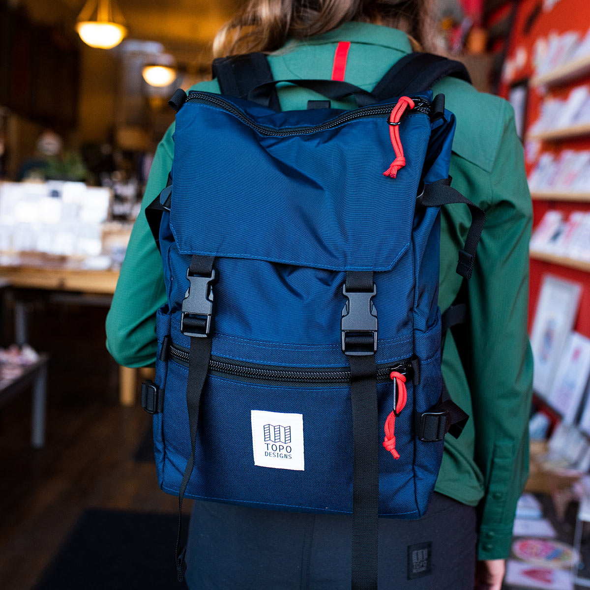 Topo Designs Rover Pack Classic Navy, timeless backpack with great functionalities