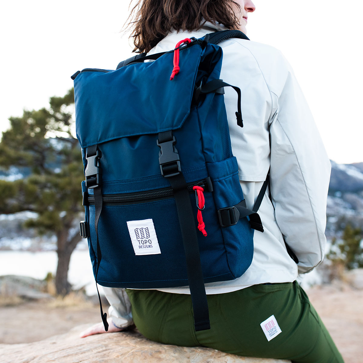 Topo Designs Rover Pack Classic Navy, durable, lightweight and water-resistant pack for daily use