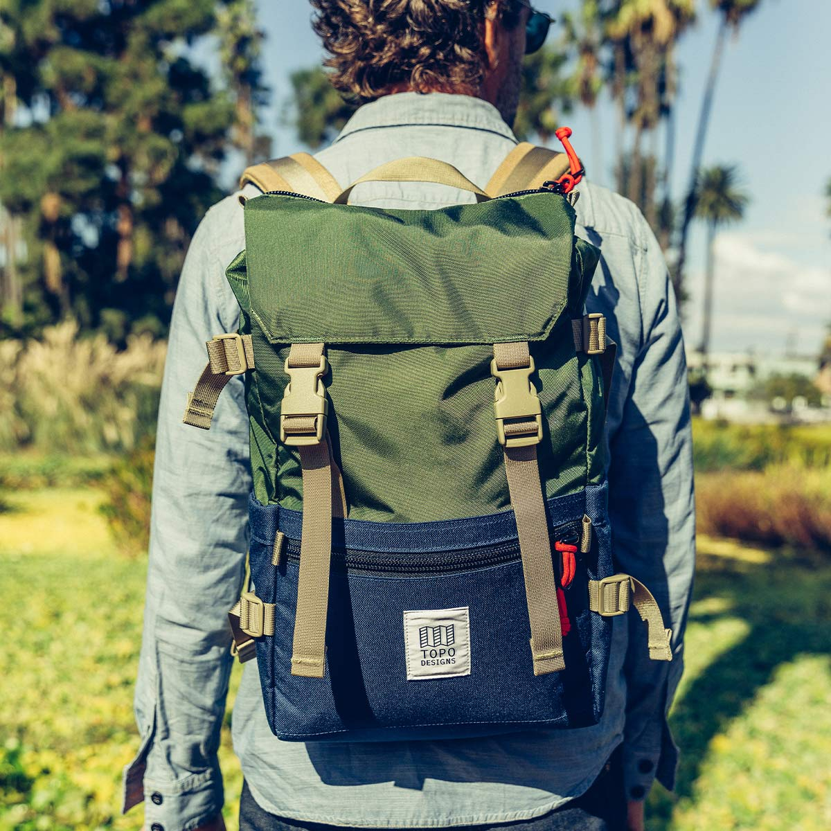 Topo Designs Rover Pack Classic Olive/Navyd, timeless backpack with great functionalities