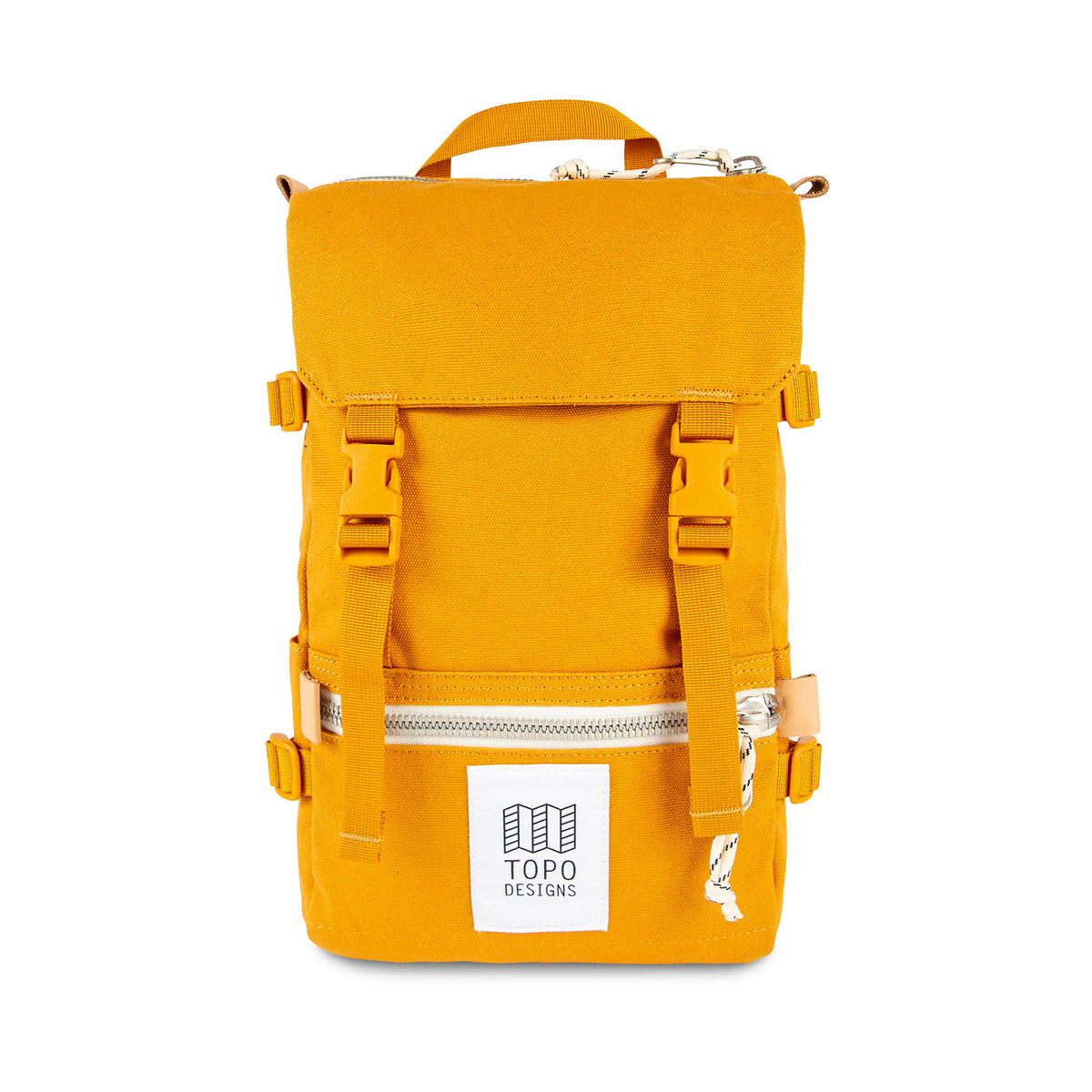 Topo Designs Rover Pack - Mini Canvas Yellow, statement-making bag that's the perfect size for errands around town or on the trail