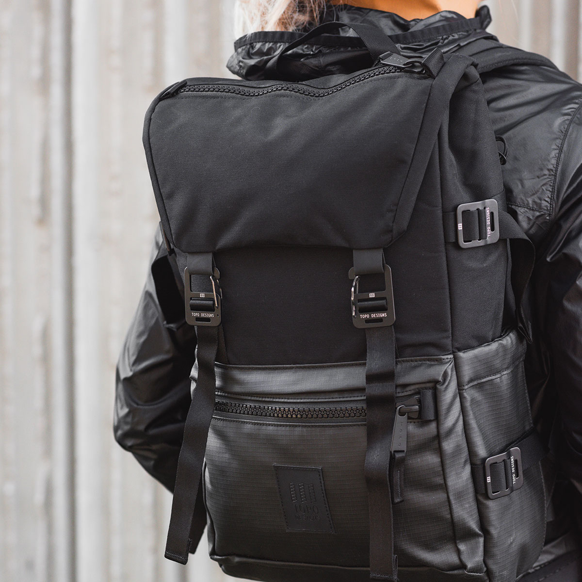 Topo Designs Rover Pack Premium Black, backpack built to work wherever you do