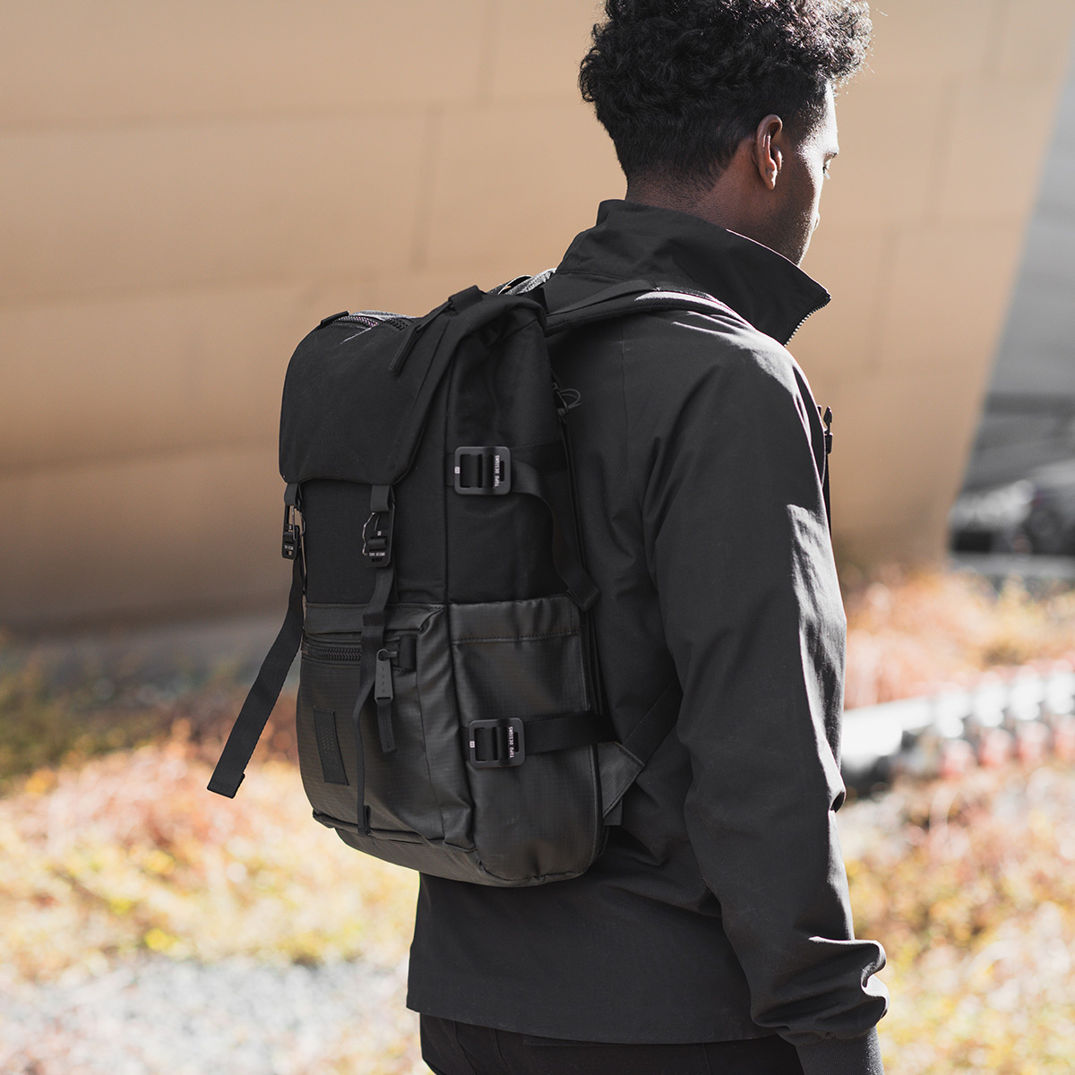 Topo Designs Rover Pack Premium Black, durable, lightweight and water-resistant pack for daily use