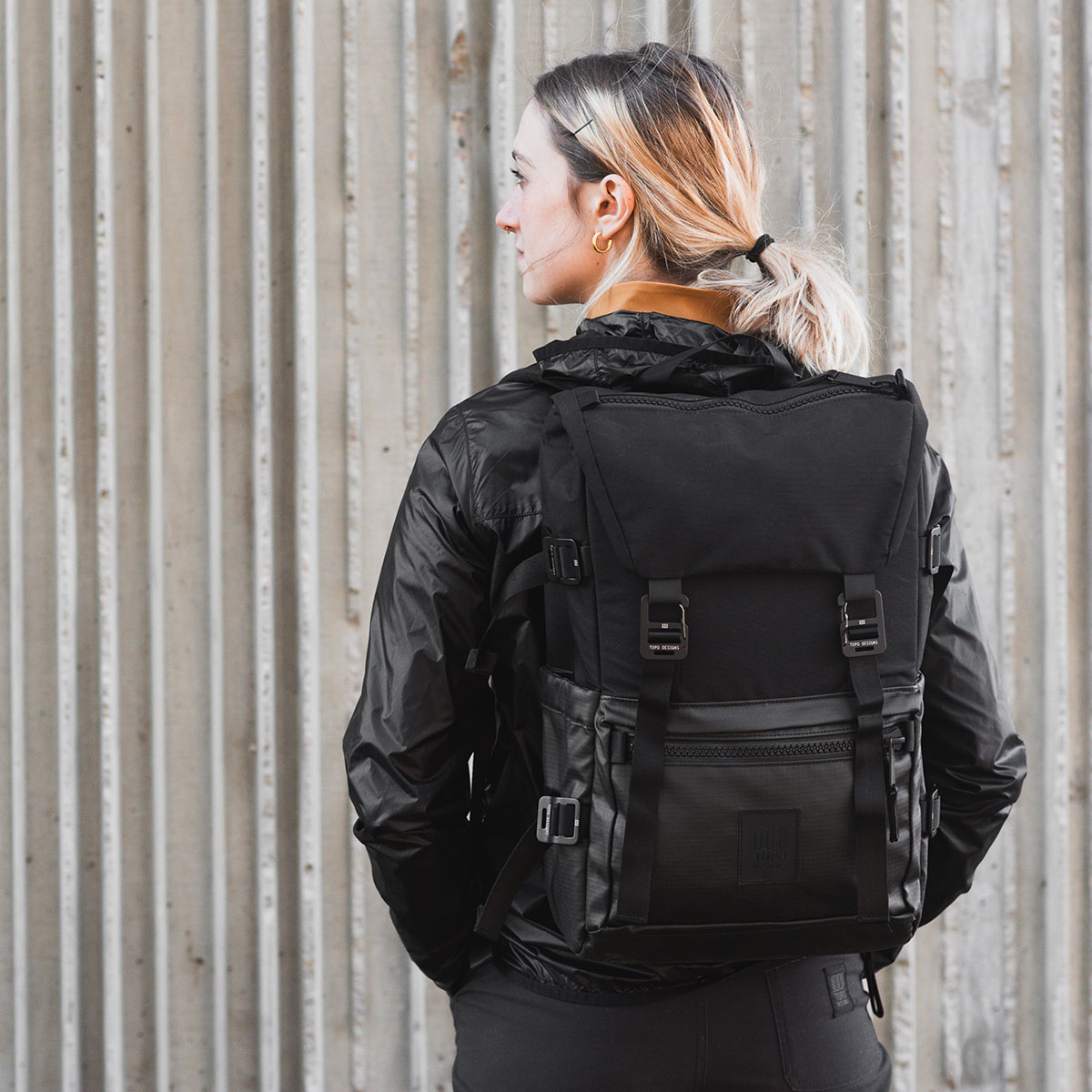 Topo Designs Rover Pack Premium Black, designed with a unique, luxury feel
