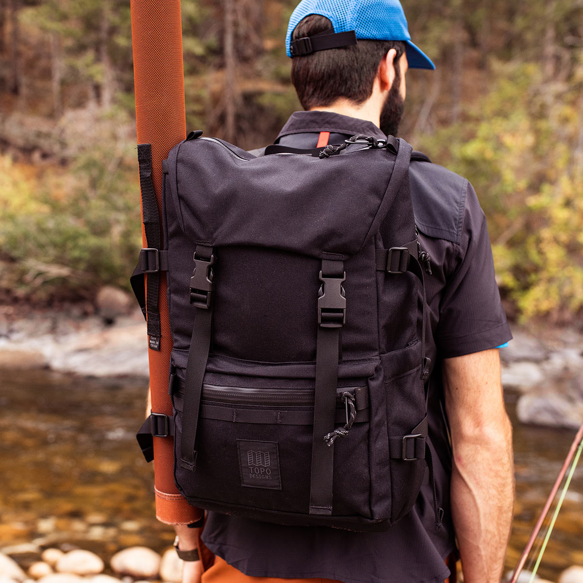Topo Designs Rover Pack Tech Navy, durable, lightweight and water-resistant pack for daily use