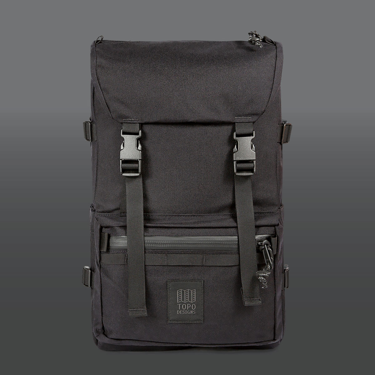 Topo Designs Rover Pack Tech Black, backpack built to work wherever you do