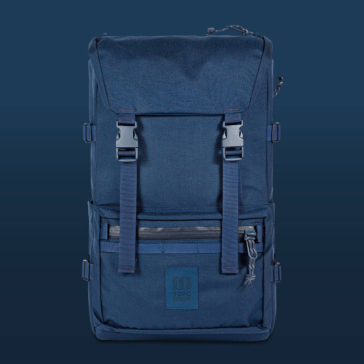 Topo Designs Rover Pack Tech Navy, backpack built to work wherever you do