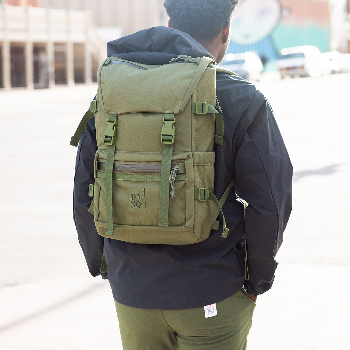 Topo Designs Rover Pack Tech Olive, backpack built to work wherever you do