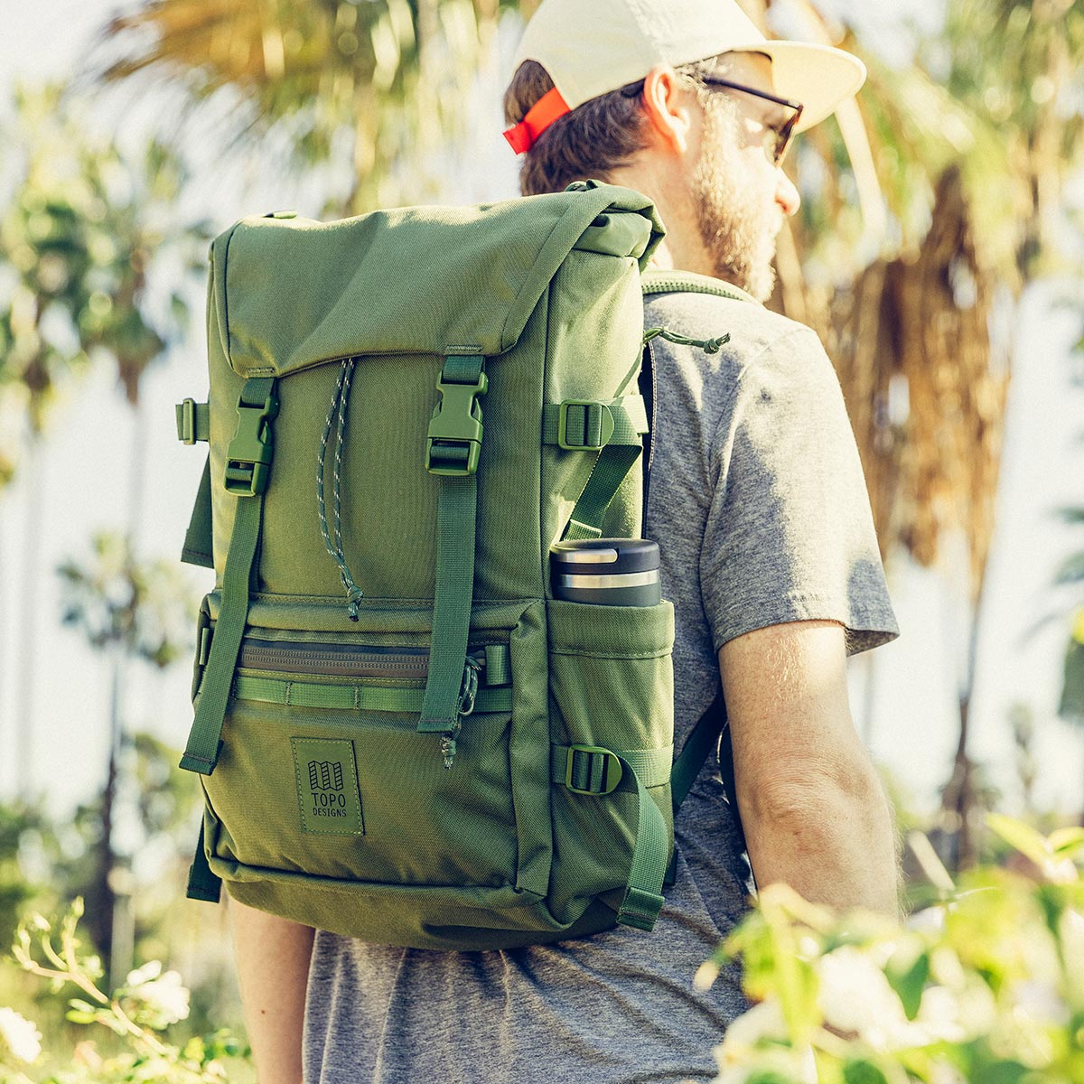 Topo Designs Rover Pack Tech Olive, technically the best backpack with great functionality