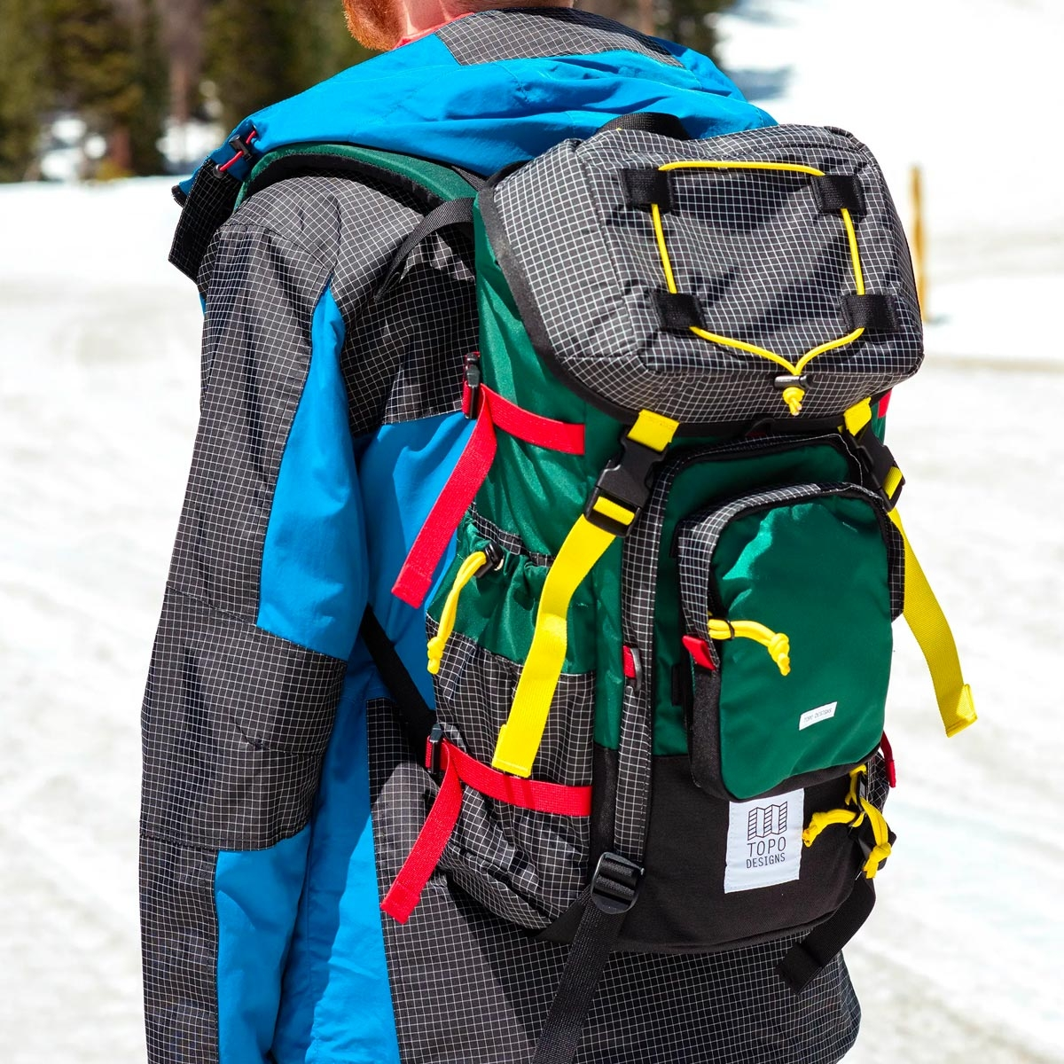 Topo Designs Topo Designs Subalpine Pack Forest, INTENTIONALLY DESIGNED TO STAND OUT