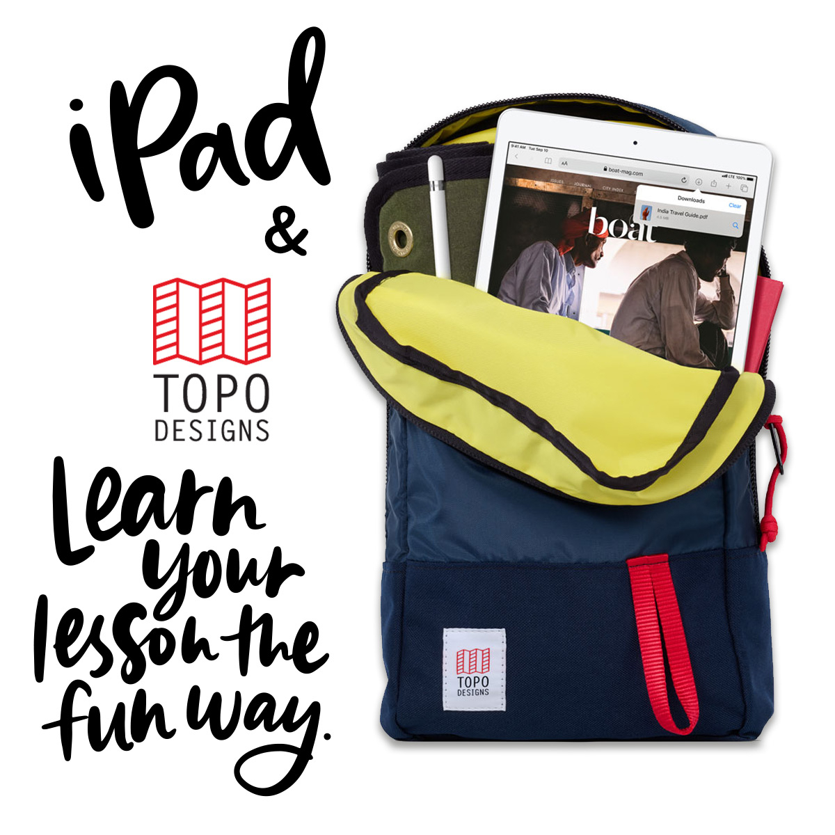 Topo Designs Trip Pack Navy, perfect bag for school