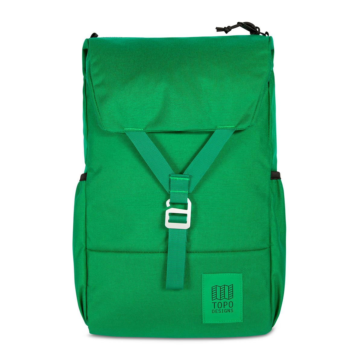 Topo Designs Y-Pack Green/Green fuses classic style and modern functionality