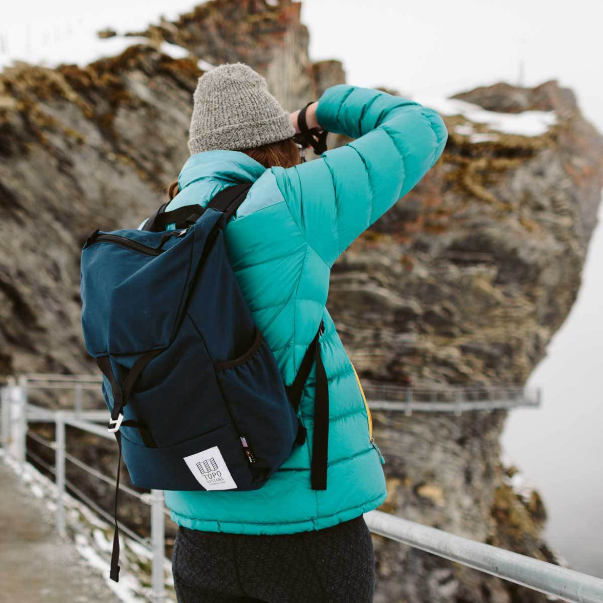 Topo Designs Y-Pack Navy, incredibly robust and lightweight backpack