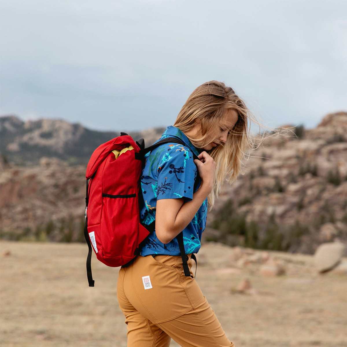 Topo Designs Y-Pack Red, incredibly robust and lightweight backpack