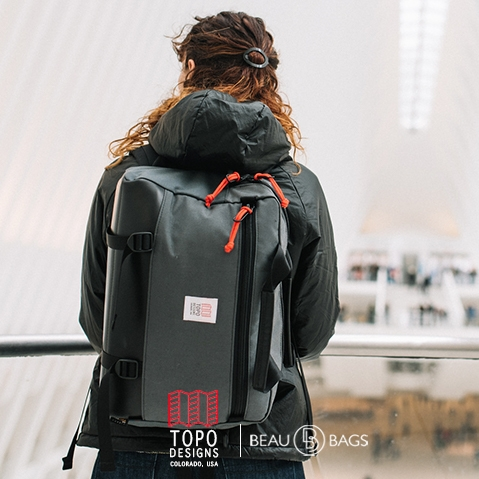 Topo Designs Commuter Briefcase Charcoal/Black Leather, perfect briefcase for Office, Travel, and Everyday