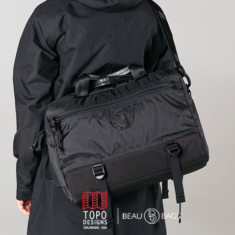Topo Designs Commuter Briefcase X-pac-Ballistic-Black, perfect briefcase for Office, Travel, and Everyday