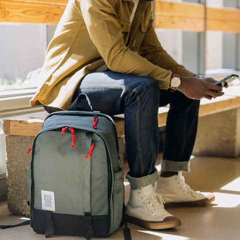 Topo Designs Core Pack Charcoal, lifestyle