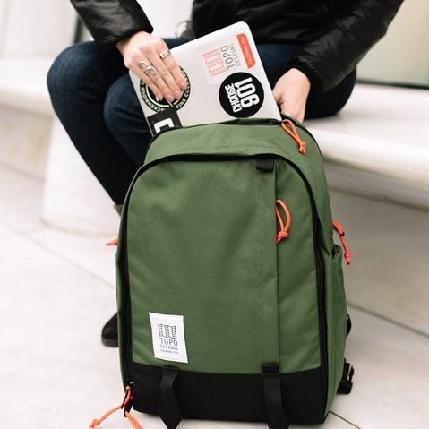 Topo Designs Core Pack Olive, perfect backpack for business travel or school commute