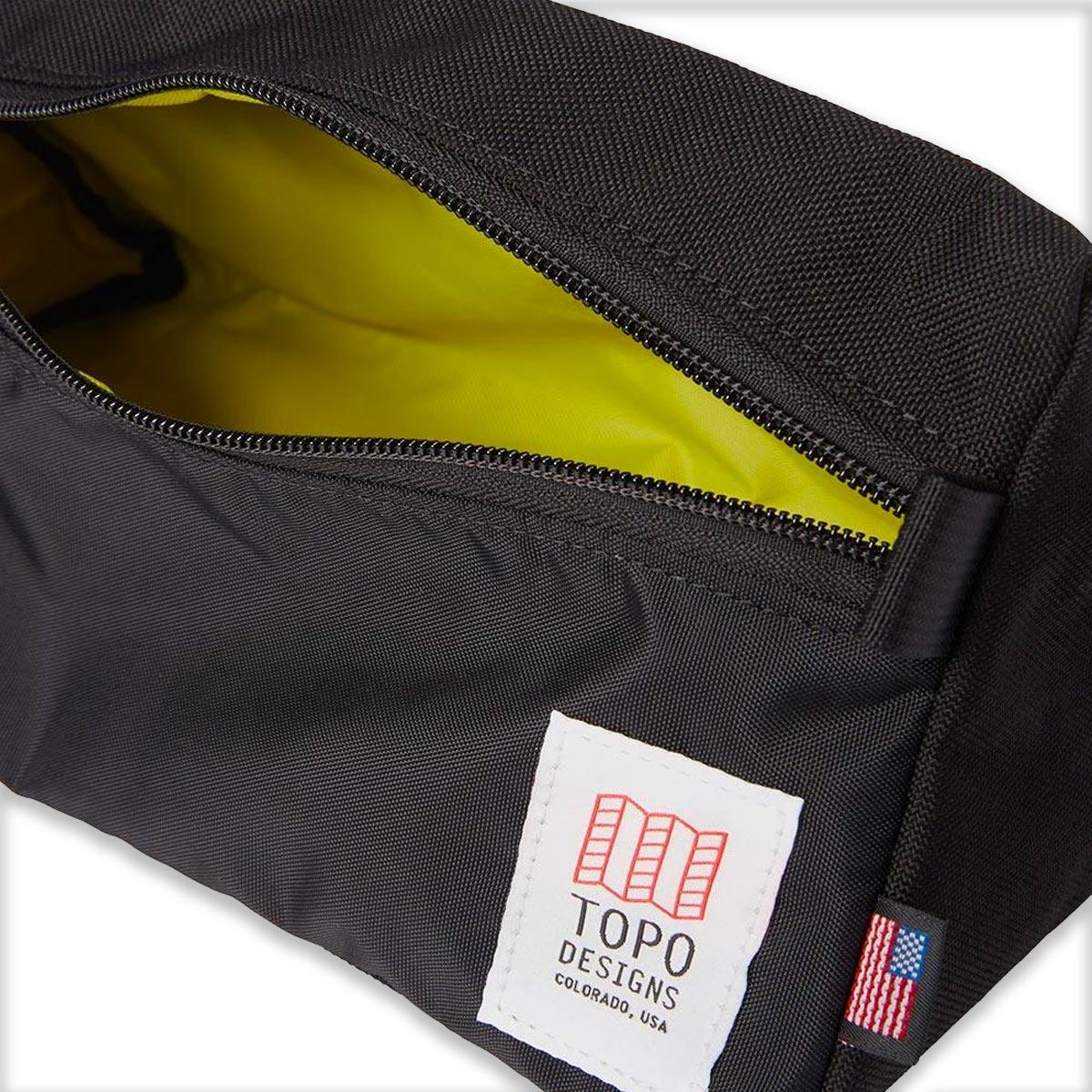 Topo Designs Dopp Kit Black, water-resistant, travel light, accessory bag