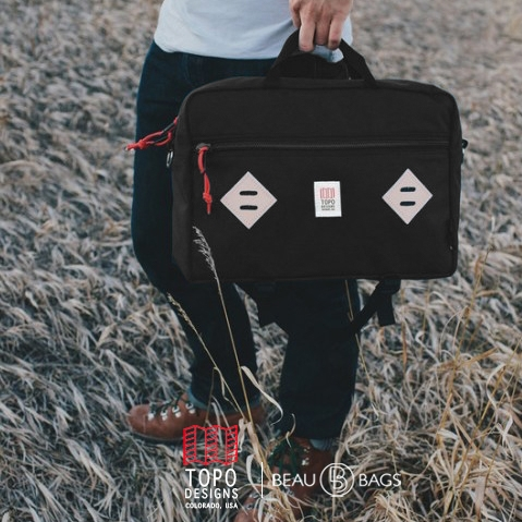 Topo Designs Mountain Briefcase Black, The ultimate briefcase for everyday use