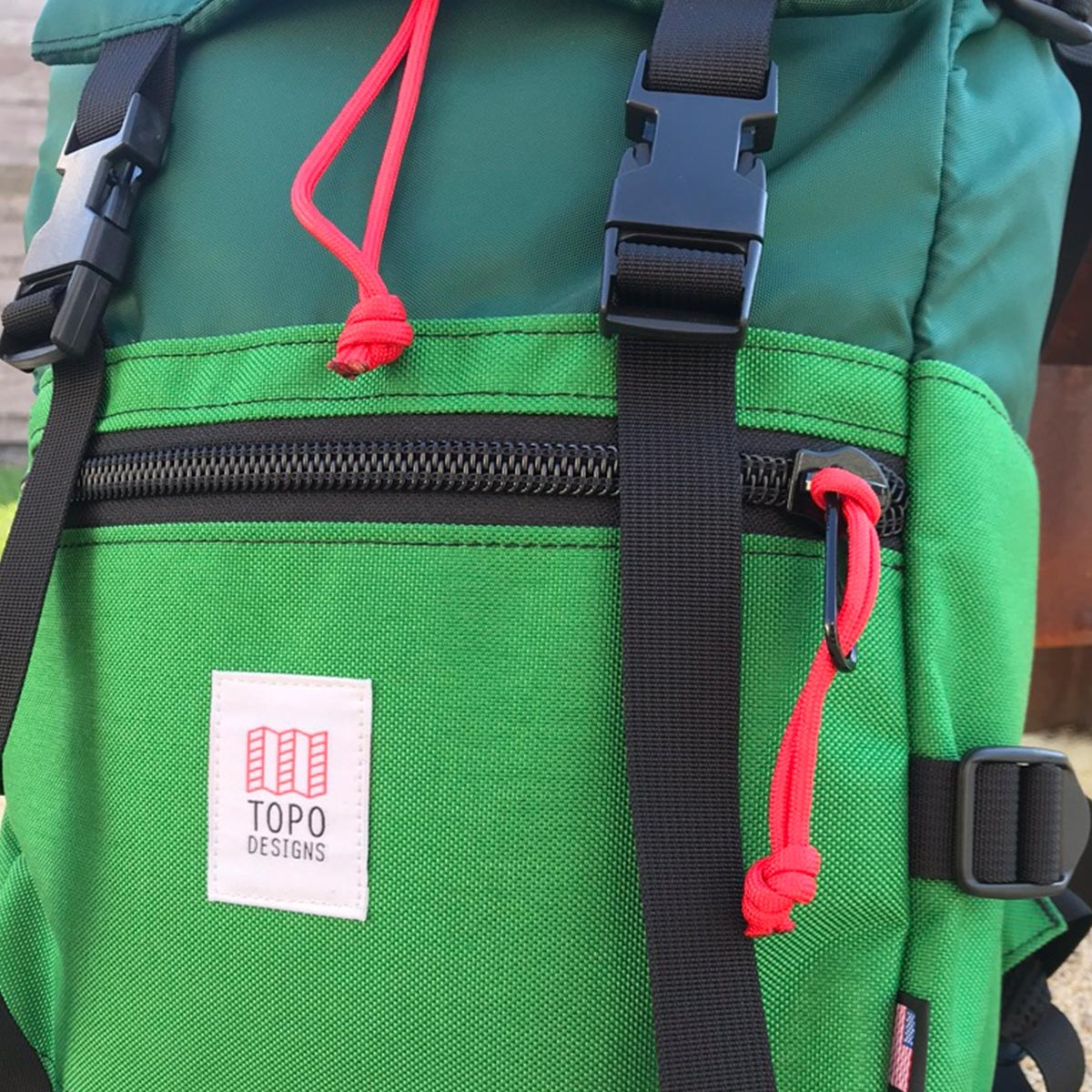 Topo Designs Rover Pack Forrest Kelly, timeless pack with great functionality