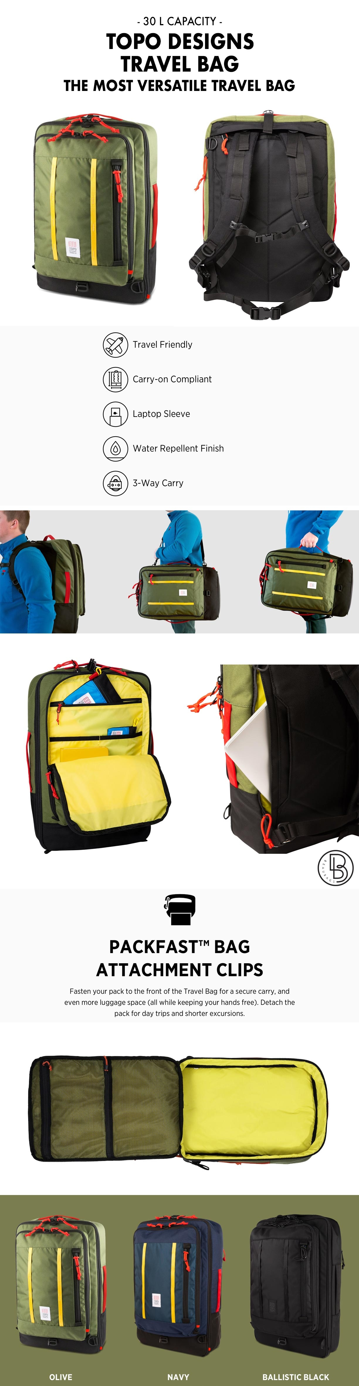 Topo Designs Travel Bag product information